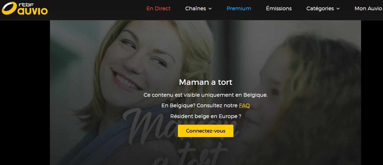 Vous ne pourrez voir les films diffusés en streaming sur la RTBF que si vous êtes belge.